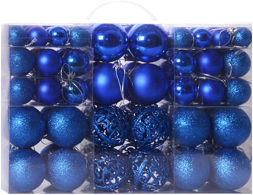 iTranyee 100 Pieces Christmas Balls for Gli Under blast sales Ornaments Xmas Tree Financial sales sale