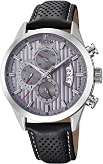 Festina F20271/3 For Men - Analog Casual Watch, Leather