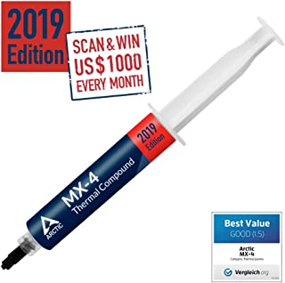 ARCTIC MX-4 2019 Edition - Thermal Compound Paste - Carbon Based High Performance - Heatsink Paste - Thermal Compound CPU for All Coolers, Thermal Interface Material - High Durability - 45 Grams