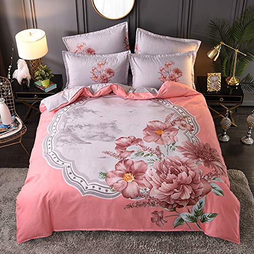 Chinese Style Printed Quilt Cover And Pillowcase, Super Large Single And Double Polyester Bedding, Unisex Soft And Comfortable Bedroom Home Textile