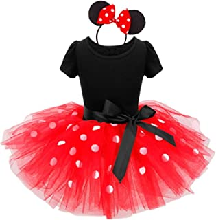TTYAOVO Baby Minnie Costume da Topo Ragazze Abito da Principessa 2 Pezzi Impostato