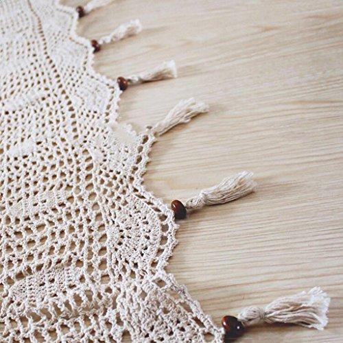 sharplace landhuis stijl, haken venstergordijn gordijnen blockout, van katoen linnen, beige, 180x255cm
