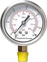 PI Controls UK Pressure Gauge, PG-63-R28-WF-BR