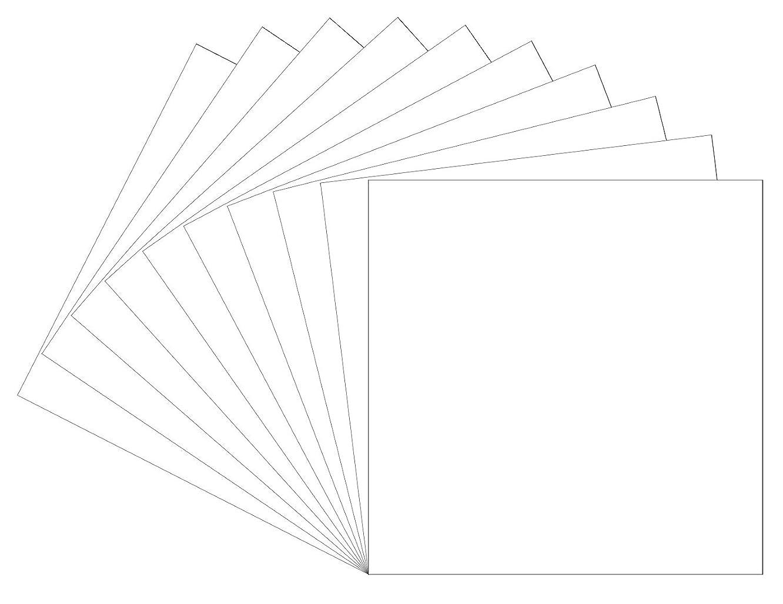 10 Matte White Oracal 631 Vinyl Sheets, 12x12