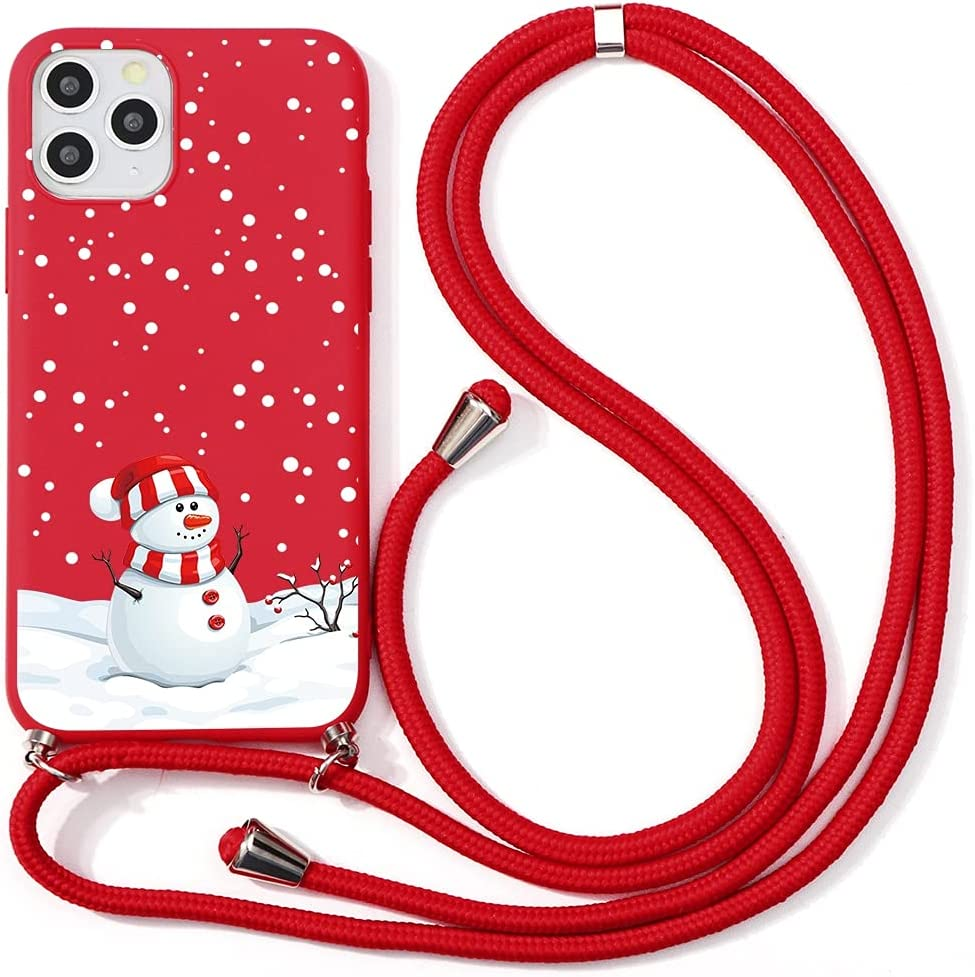 Yoedge Crossbody Case for Xiaomi Mi 10T Lite (5G), Neck Cord Phone Case with Adjustable Lanyard Strap, TPU Silicone with Cute Pattern Cover Compatible with Xiaomi Mi 10T Lite 5G [6.67