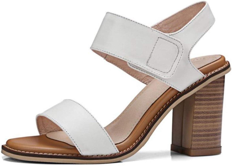 Elegant Women Leather High Heels Sandals Open Toe Sandals Office Daily shoes Footwears