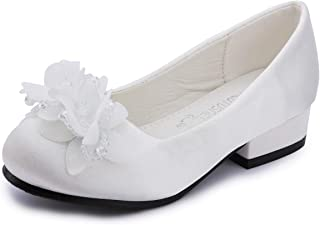 Girls Ivory White mesh Flat patent Shoes party wedding shoes 11-1 Brand New