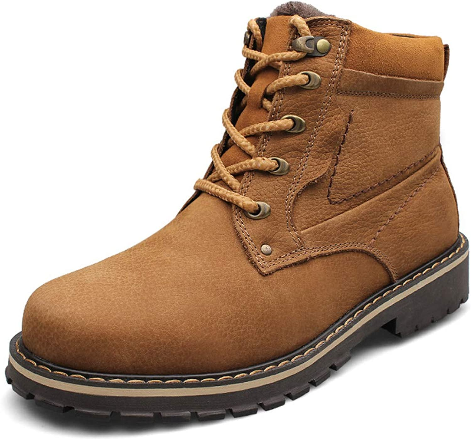 DANDANJIE Mens Fashion Boots Fall Casual Breathable Booties Ankle Boots High Top British Outdoor Booties