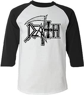 Death - New Logo Raglan (Baseball Style Shirt)