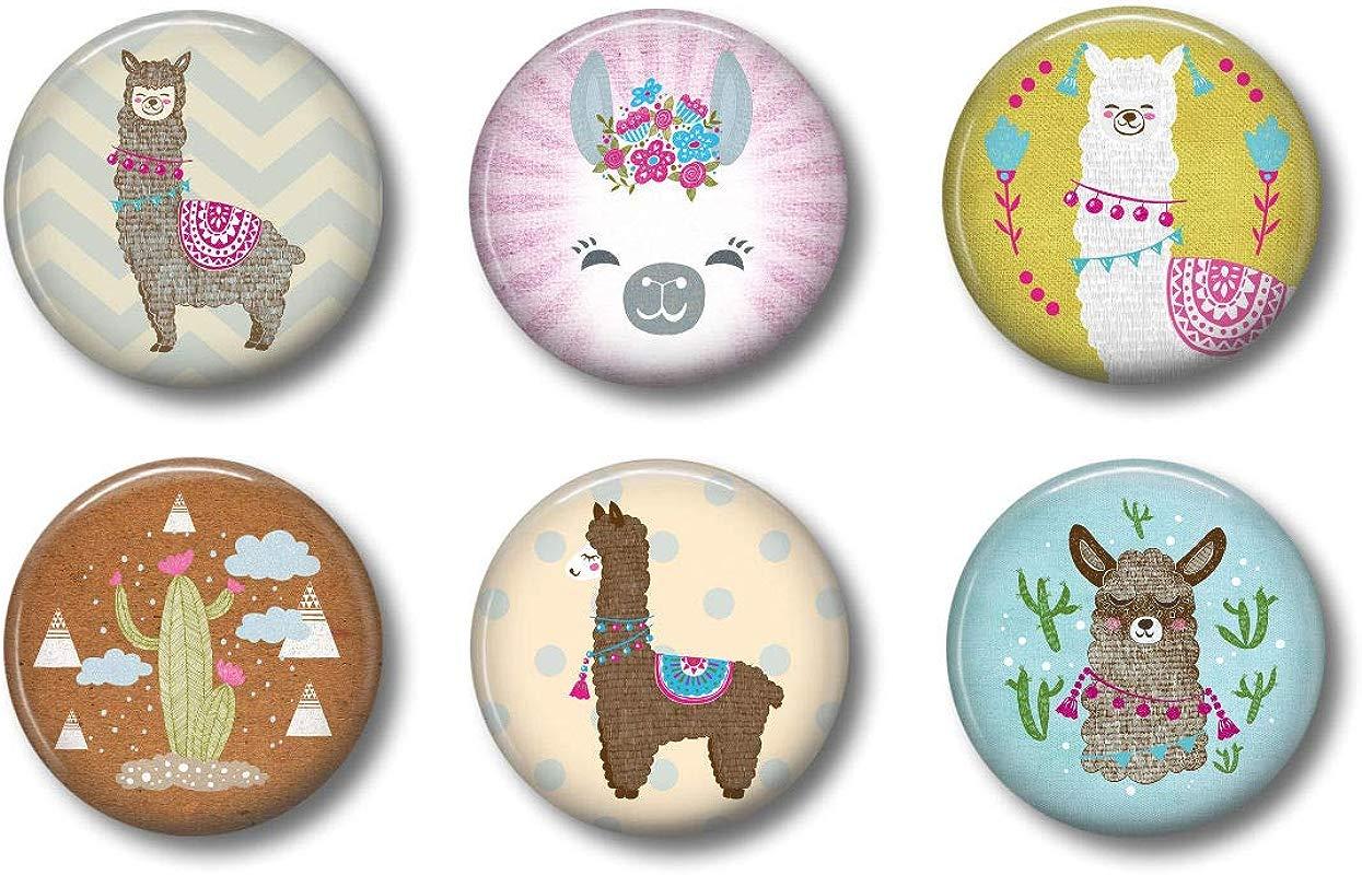 Cute Locker Magnets For Teens Llama Magnets Fun School Supplies Whiteboard Office Or Fridge Funny Magnet Gift Set 2