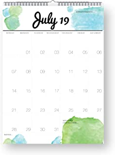 Stick with Sam 2019 Calendar Watercolour   Large Planner   Family Calendar   Yearly Calendar 13 Months January 2019 to January 2020   Month at a Glance   11.7