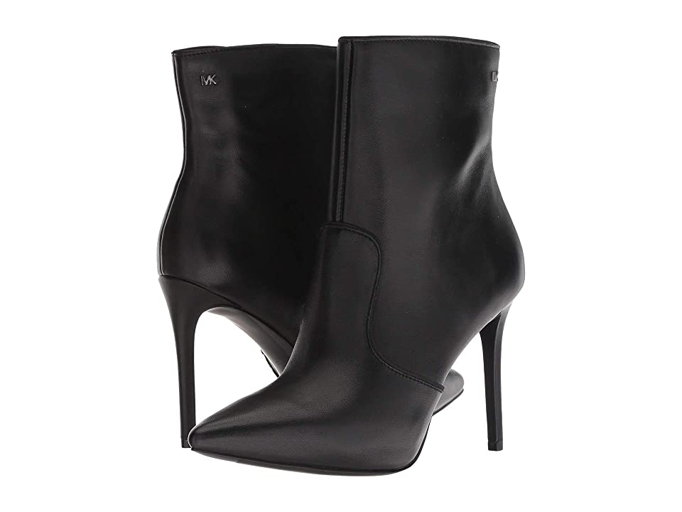 MICHAEL Michael Kors Blaine Ankle Bootie (Black Nappa/Grosgrain) Women