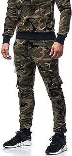 Landscap Men's Pencil Pants Joggers Harem Pants Stylish Hip Hop Patchwork Drawstring Slim Fit Ripped Sweatpants