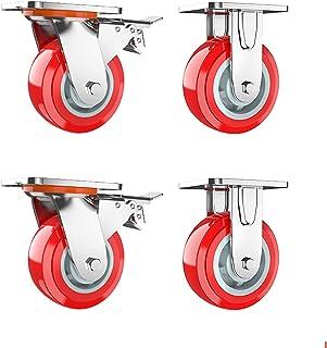 4 pc hoge dragende zwenkwielen duurzame zwenkwielen belasting 750 kg, oriëntatie universele rem zwenkwiel, deze zwenkwiele...