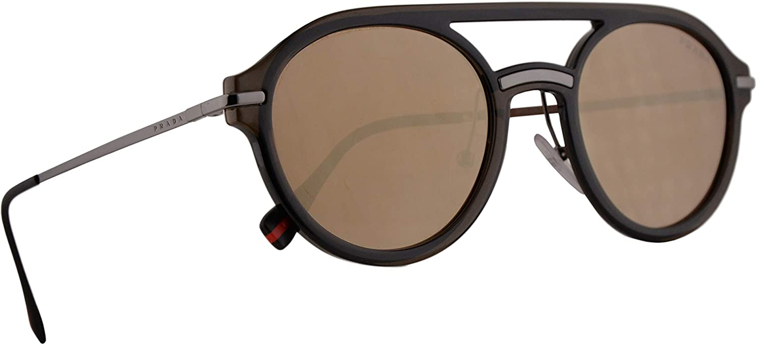 Prada PS05TS Sunglasses Brown w/Dark Brown Mirror Gold Lens 51mm 5N9HD0 PS 05TS SPS 05T SPS05T : Clothing, Shoes & Jewelry