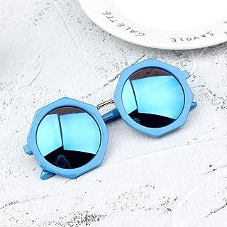 DishyKooker Children Sunglasses Round Frame Baby Fashion Reflective Dazzle Sunglasses