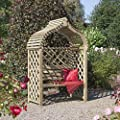 Japanese Style Wooden Garden Arbour with Double Seat OGD045