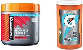 Gatorade Endurance Formula Powder, Watermelon, 32 Ounce & Thirst Quencher Powder, Frost Glacier Freeze, 76.5 Ounce, Pack of 1