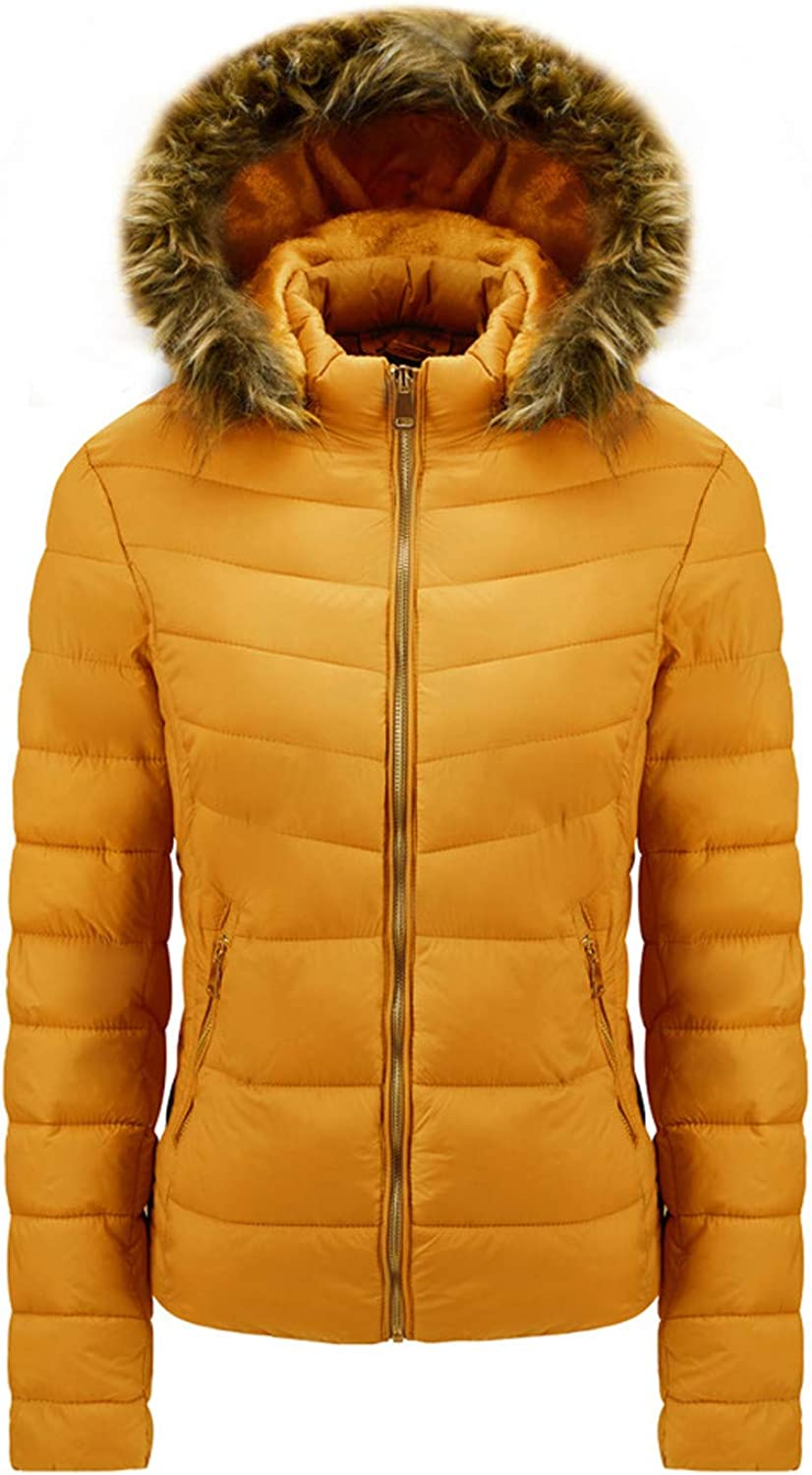 Simayixxch Womens Padded Jacket Overcoat Chicago Mall Sleeve Manufacturer regenerated product Sl Fur Long Hood