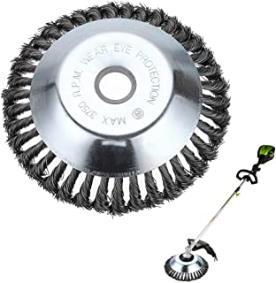 Skelang 8 Inches Trimmer Head Cutter, Round Steel Wire Brush Cutter Head, Weed Eater Head Replacement Universal for Straight Shaft Trimmers, Lawn Mower, Weeding Garden Grass, Lawn with Stone, Rust Rem