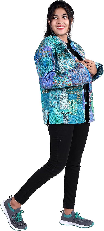 iinfinize Lightweight Jacket Sweatshirts Unisex Dress Vintage Active Jacket Bohemian Track Jacket Traditional Cotton Outerwear Jacket Housecoat Ethnic Throw Windbreakers Size-L