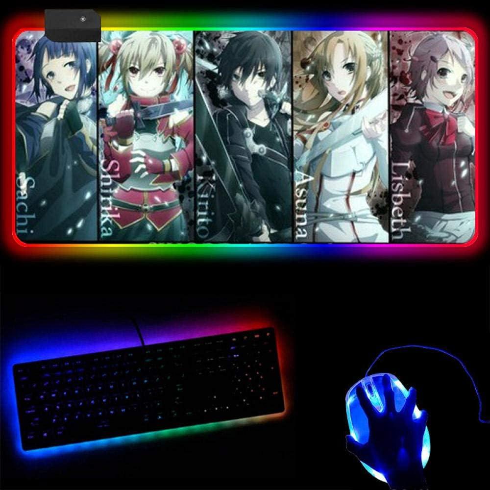 YEE Gaming Mouse Pads Sword Surprise price Ranking TOP17 Luminous Anime RGB Online Art