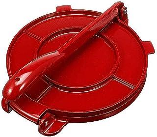 سبيكة ألومنيوم تورتيلا بريس مقبض قابل للطي أداة طحين الخبز الذرة أدوات الفطائر DIY اكسسوارات المطبخ (أحمر، 16.5 سم)