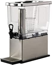 Service Ideas CBDT3SS Rectangular Cold Beverage Dispenser, 3 Gallon (384 oz.), Transparent/Brushed Stainless
