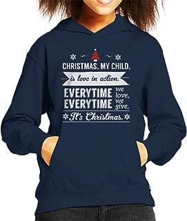Christmas is Love in Action Dale Evans Rogers Quote Kid's Hooded Sweatshirt