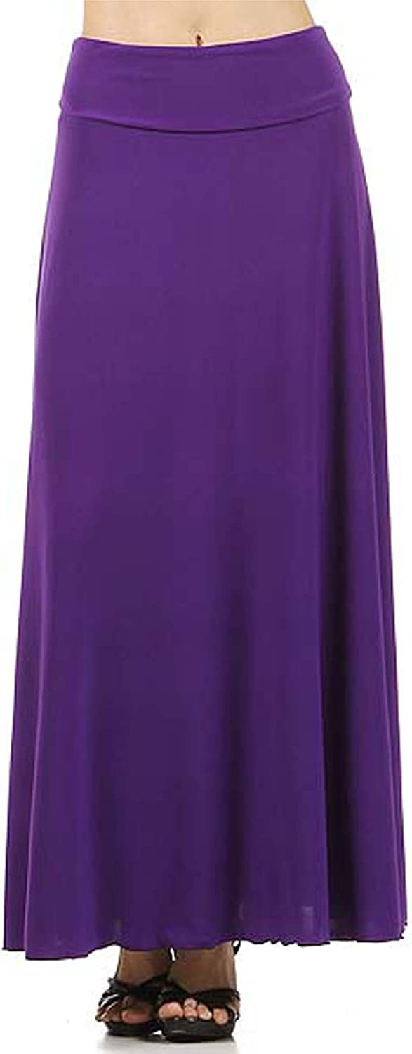 Avital Solid Stretch Maxi Skirt