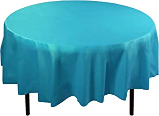 Best teal plastic round tablecloths Reviews