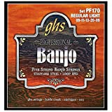 GHS BANJO - Stainless Steel String Set - 5-String - PF170 - Regular Light