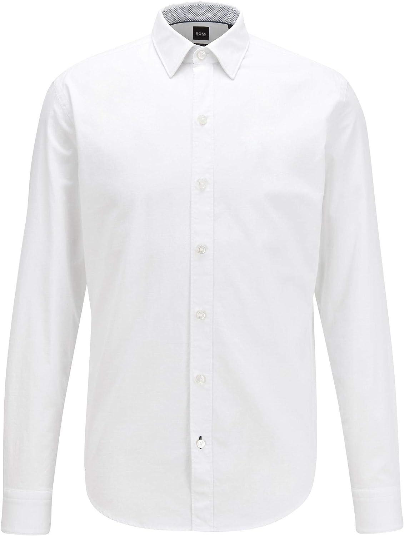Hugo Boss - Camisa Hombre Blanca para: Hombre Color ...