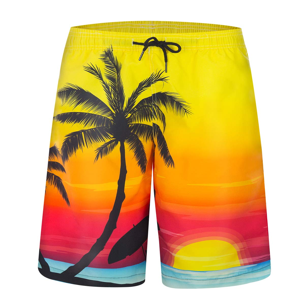 iCKER Mens Swim Trunks Quick Dry Suits Summer Holiday Beach Shorts