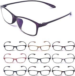 MIDI-ミディ 老眼鏡 ブルーライトカット 紫外線カット メンズ レディース おしゃれ シニアグラス 軽量 高めの鼻パッド バイオレット (M-211,C4,+1.00)