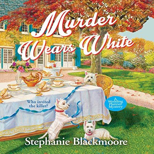 Murder Wears White audiobook cover art