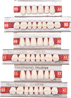 84 Pcs Dental Synthetic Resin Tooth Denture 3 Sets False Teeth for Halloween Horror Teeth 23 A2