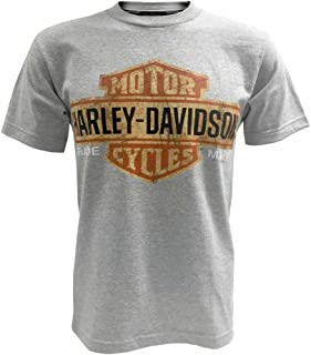 Harley-Davidson Men's Tee, Distressed Bar & Shield T-Shirt, Gray 30296597