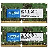 【2枚セット】Crucial ノートPC用 メモリ PC4-21300(DDR4-2666) 8GB SODIMM CT8G4SFS8266【永久保証】 並行輸入品