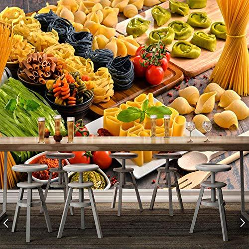 Wandtapete 3d Verschiedene Nudeln auf dem Tisch Essen| Tapete | Wandbild | Wandbild | Bild | Fototapeten | Tapeten | Wandtapete | Wanddeko | Wandtapete | Abstrakt 3d-250cm×175cm