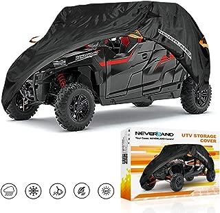 NEVERLAND Heavy Waterproof UTV Cover For Polaris RZR Yamaha Can-Am Defender Kawasaki Ranger Cover 4-6 Passenger Black
