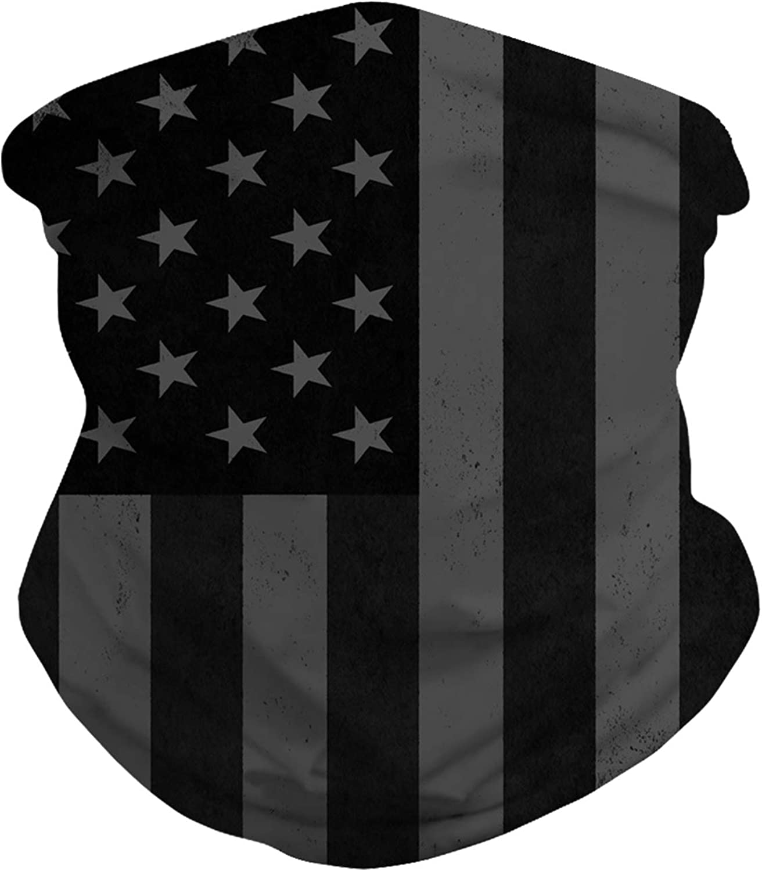 American Flag Neck Gaiter Balaclava Bandana Headwear Sun Dust Wind Protection Durable Tube Mask