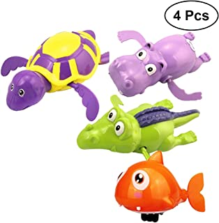 couleur al/éatoire TOYMYTOY Tirez la Cha/îne Animal Jouet de Bain Jouets Educatifs Cadeau pour Enfants