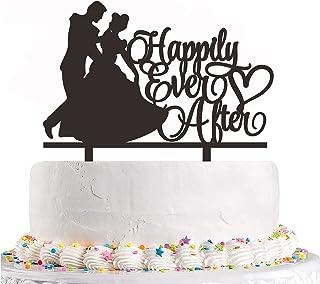 قطعة علوية للكيك من Happy Ever After - تغري العروس والعريس كعكة الرقص لتزيين حفلات الزفاف وخطوبة الزفاف وحفلات العازبة