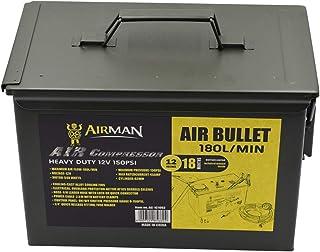 منفاخ هواء الرصاصة للكفرات السيارات، ماطور آيرمان، قوة دفع فعالة 35 لتر في الدقيقة