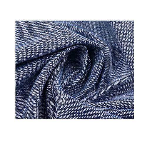 ZHhome Tela de Mezclilla de algodón Camisa Ropa Casual Ropa de Trabajo Tela de Ropa Tela de algodón Juvenil 145 cm de Ancho vendida por Metros (Color : Denim Blue)