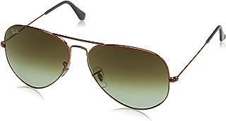 Ray-Ban Men's Aviator Large Metal Ii Sunglasses SHINY MEDIUM BRONZE 62 mm