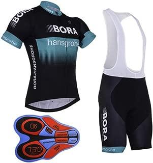 HnjPama Pro Team Unisex Men's Cycling Jersey Suit Bib Shorts Bamboo Fiber Cycling Jersey