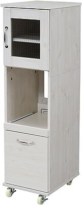 JKプラン スリム キッチンラック 食器棚 隙間タイプ レンジ台 レンジラック 幅 32.5 H120 FLL-0067-WH