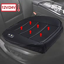 Big Hippo Heated Seat Cushion-Universal 12V Car 24V Truck Front Car Heating Seat Cushions Covers Pad Protector for Car Interior, Home, Office Chair(1 PC, Black)